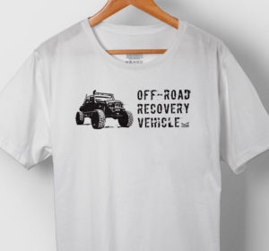 off-road recovery vehicle white t-shirt jeeptude